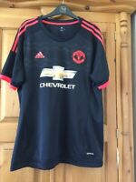 Manchester United 2017/18 Football Shirt Size L Adidas