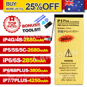 For iPhone 4 4S 5 5S 6 6S 7 PLUS High Capacity Battery Replacement Tools