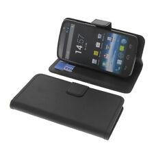 Tasche f. MEDION Life P5001 Smartphone BookStyle Schutz Handy Hülle Buch Schwarz