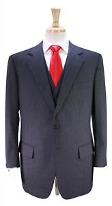 Frank Sinatra Custom Made DUNHILL Gray Pinstripe 3-Pc Wool Suit 42R