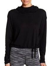 Z by Zella 2X Plus Black Demi Pullover Cozy Jersey Top Shirt Hooded Yoga