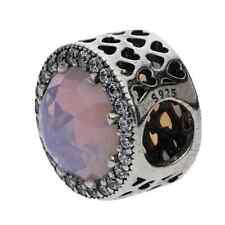 Original Pandora Charm Bead 791725NOP Strahlenkranz der Herzen pink 925 silber