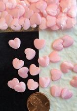Pink Satin Hearts tiny heart Baby Girl Shower Valentine's Day Cards Scrapbooks