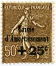 """FRANCE N° 267 """" SEMEUSE CAISSE D'AMORTISSEMENT +25c S.50c """" NEUF xx LUXE B415"""