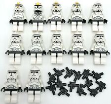 LEGO 12 NEW CLONE TROOPER MINIFIGURES STAR WARS MEN WITH GUNS PIECES
