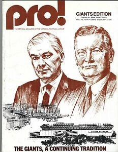 1976 10/10 football program New York Giants v Dallas Cowboys GOOD