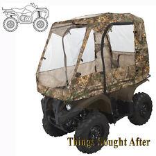 CAMO DELUXE ATV CABIN ENCLOSURE Canvas Full Quad Cargo Rack Cab Shelter Cover