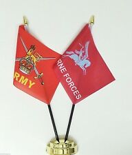 British Army & Airborne Forces Pegasus Double Friendship Table Flag Set