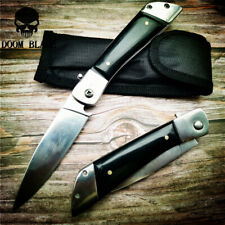 Quick Open Knives Folding Glass Handle Tactical Camping Knife Pocket Hunting