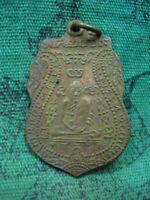 Phra LP Klan Wat Prayat Talisman Year b.e.2469 Old Pendant Thai Buddha Amulet
