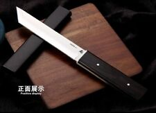 """Straightback Knife Fixed Blade Hunting Tactical Combat Wood Cover Collectible 4"""""""