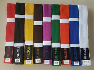 Karate Taekwondo Jiu-Jitsu Belt Professional Martial Arts 100% Cotton Brand New