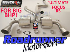 "Milltek Focus RS MK2 ULTIMATE Exhaust System 3"" Cat Back Non Res - For BIG BHP!"