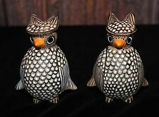 Wise Owl Small Figure Hand Made Mayan Pottery from Chiapas Mexican Folk Art