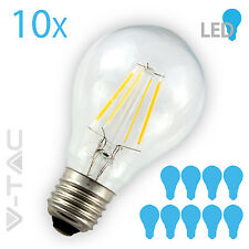 10x E27 Glühfaden LED Glühbirne Filament Leuchtmittel nur 4W 400lm warm weiß