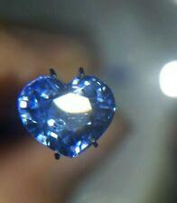Safir 3.5ct Edelstein Saphir Sapphire Blau Natur Mineral Herzform