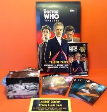 Topps Doctor Who Timeless (2016) - Full Set of 100 + 2 Chase Insert Sets + Box