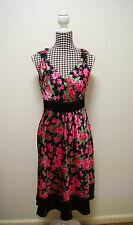 Womens Target Dress Multi-coloured Occasion Dress Sz 10