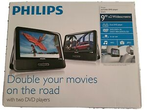 Philips Dual 9 Inch Protable Dvd Players PD9016/37