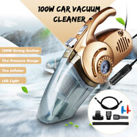 4 In 1 Car Van Vacuum Cleaner 12V Handheld Wet Dry Bagless + Tire Inflator Pump