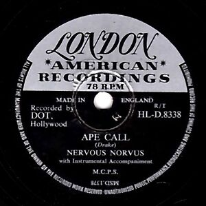 """Gran Comedia 78 Nervous Norvus"""" Ape Call/Salvaje Perros de Kentucky"""" Hld 8338E"""