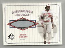 2001 SP Authentic Baseball Eddie Murray Cooperstown Calling Jersey Card # CC-EM