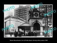 OLD LARGE HISTORIC PHOTO OF BOSTON MASSACHUSETTS, THE SCOLLAY Sq SUBWAY c1900