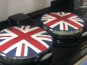 Union Jack Flag Chefs Pads Hob Covers for AGA Cooker Pair.
