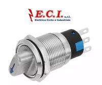 Interruttore leva 19 mm  24-220V in acciaio inossidabile contatto NO/NC