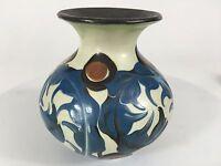 """Herman Kahler Keramik HAK Vtg Denmark 1930's Vase Handpainted Signed 5"""" Beauty"""