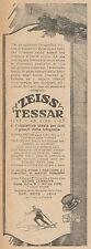 Z3042 Obbiettivo fotografico ZEISS Tessar - Pubblicità d'epoca - 1927 old advert