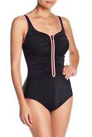 Reebok Zigzag Zip One-Piece Swimsuit Size 8 - $98