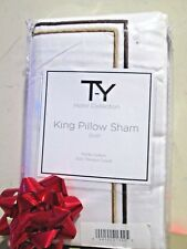 New - T-Y Hotal Collection King Pillow Sham ( size : 21-37 ) 300 Thread Count