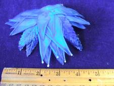 Vintage Millinery Flower Royal Blue Velvet Satin G50