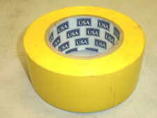 """NOS! 2"""" X 72 yard YELLOW ADHESIVE ELECTRICAL TAPE, Made in USA!"""