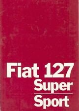 1979 Fiat 127 Super Sport Brochure German wk3372-A9O6ZX