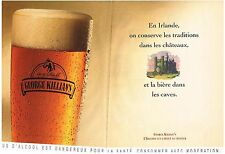 PUBLICITE ADVERTISING    1993   GEORGE KILLIAN'S     bière ( 2 pages)