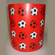 Kinder Jungen Beleuchtung Rot Fußball Deckenlampe oder Lampe Schatten medium