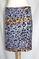 Lord & Taylor - 10 - NWOT - Purple & Yellow Animal Print Knit Straight Shirt