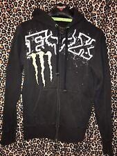 Fox Racing Monster #4 Ricky Carmichael Hoodie Sweatshirt size Small Black