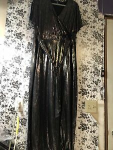 NWT elegant Noelle Wrap Dress 3xl 3x MERMAID OIL SLICK RAINBOW Rare
