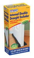 Double Draught Excluder Door Insulation Twin Guard Double Sided Energy Saving