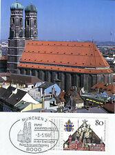 MK Maximumkarte Bund 1987 Papst Johannes Paul II in München Freising 1320 MK_155