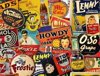 VINTAGE SODA POP BRANDS COLLAGE HEAVY DUTY USA MADE METAL DRINK ADVERTISING SIGN