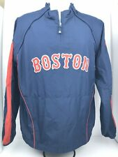 Mlb Authentic Collection Mens Large Botston Red Socks Quarter Zip Pullover(wash)