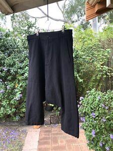 COMME des GARCONS Wool Pinstripe Drop Crotch Sarouel Pants Black Size S, EUC!