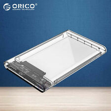 "ORICO 2139U3 Transparent 2.5"" External Hard Drive Enclosure Case USB 3.0 HDD SSD"