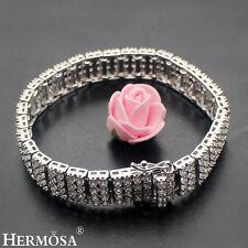 "65% Off HERMOSA Shiny White Topaz HOT 925 Sterling Silver NEW Bracelet 7"""