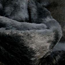 Black Faux Fake Animal Fur Medium Pile For Toys/Dressmaking - Pre-cut 1/2 metres