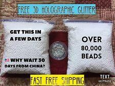 White Micro Beads Styrofoam Balls for Floam & Slime - 2 Bags